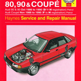 AUDI 80, 90 (Oct 86 - 90) D to H, and Coupe Petrol (Nov 88 - 90)