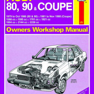 AUDI 80, 90 (79 - Oct 86) up to D and Coupe petrol (81 - Nov 88)